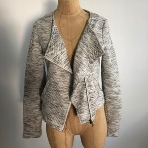 H&M trendy heather gray crop jacket